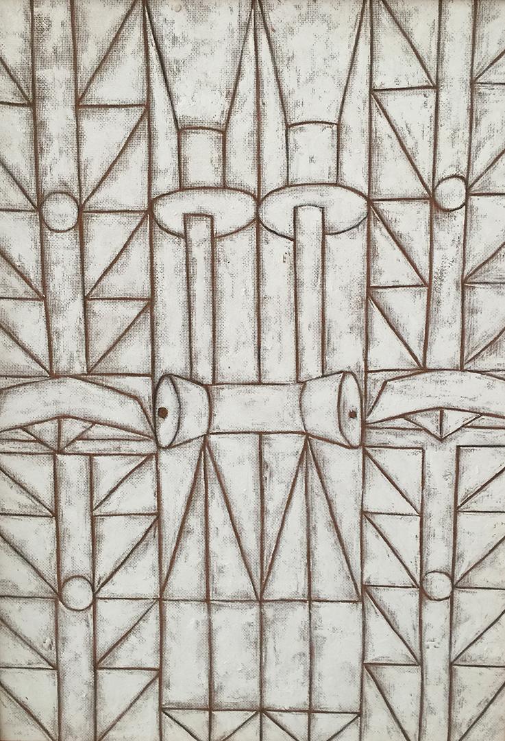 Galeno   Sem título 10   Óleo sobre madeira   74 x 25,5 cm   2016