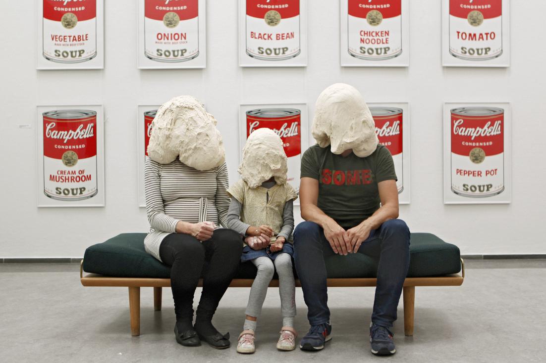 Soren Dahlgaard.Curator Majbritt Loland and Family, Randers Art Museum, Randers, Denmark.70x100cm.2014.ALTA