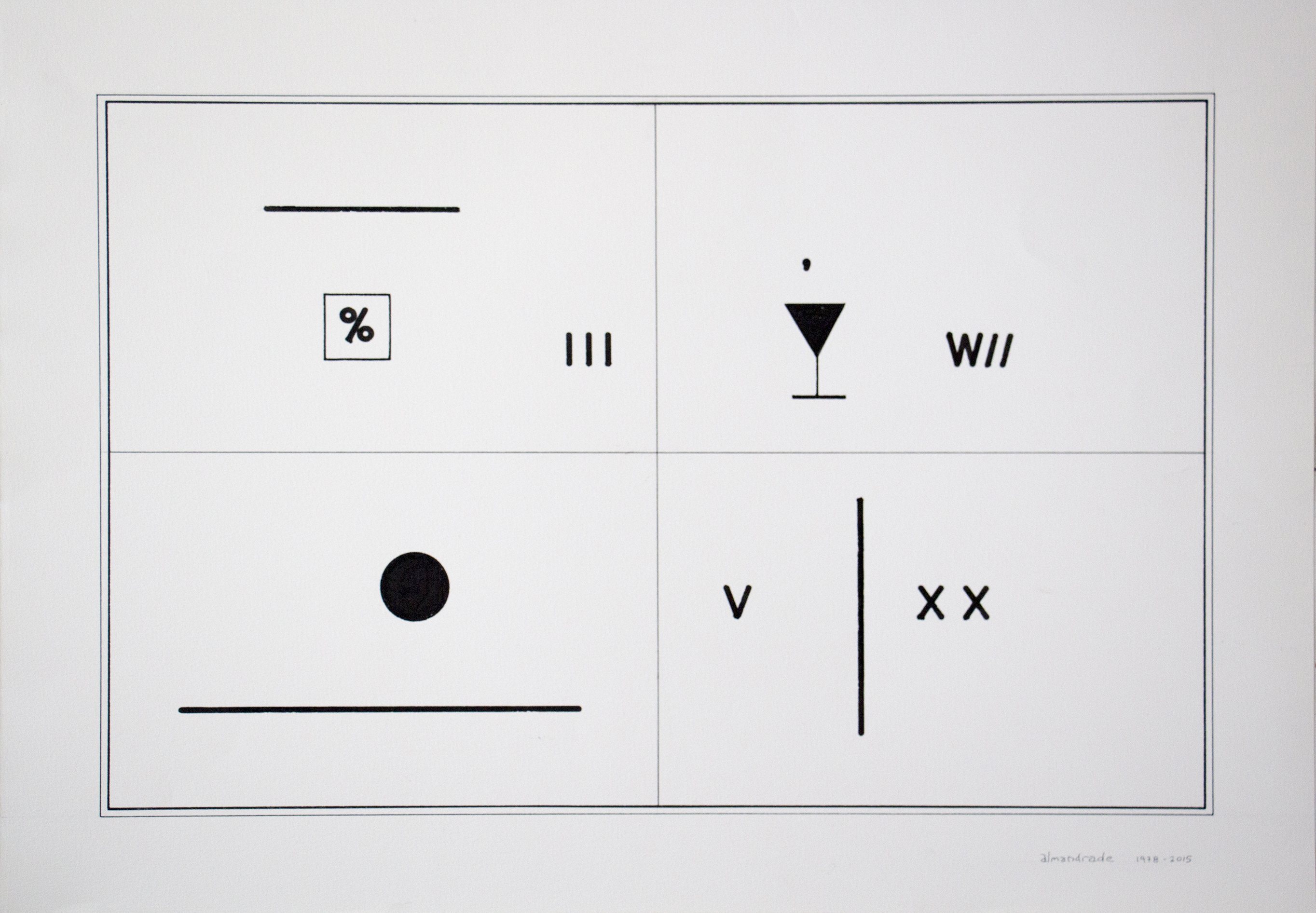 23. Gab de arte k2o.art Almandrade. Ideia & Realização. Nanquim sobre papel. 35x50cm. 1978-2015