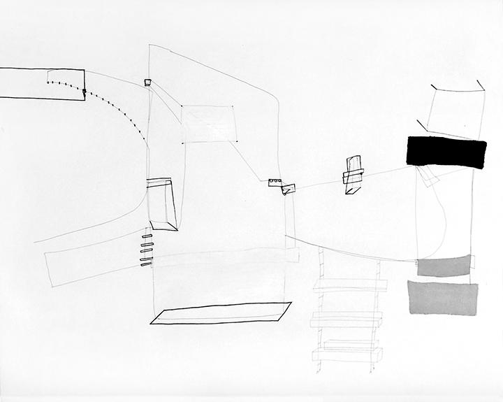 Gal. Karla Osorio. art. Maria Lynch. Life & Death beyond imaginary 6. Graphite on paper. 17.71x23.62. 45x60cm. 2017
