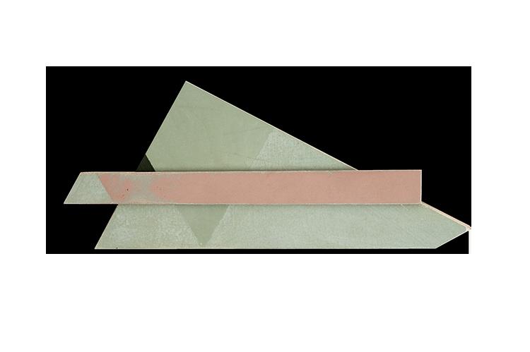 Gal. Karla Osorio. Nuno Sousa Vieira. Pintura a três cores corrigida #3. Óleo Sobre Tela e Madeira. 18x42x3,5cm. 2013