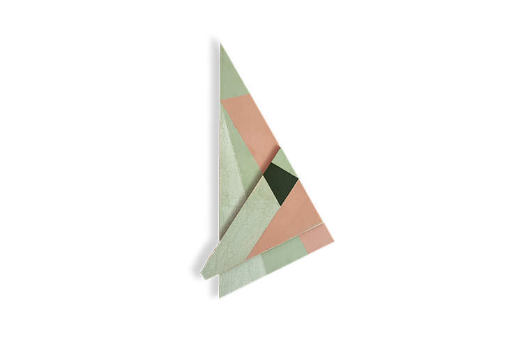Gal. Karla Osorio. Nuno Sousa Vieira. Pintura a três cores corrigida #4. Óleo Sobre Tela e Madeira. 43x22x3,5cm. 2013
