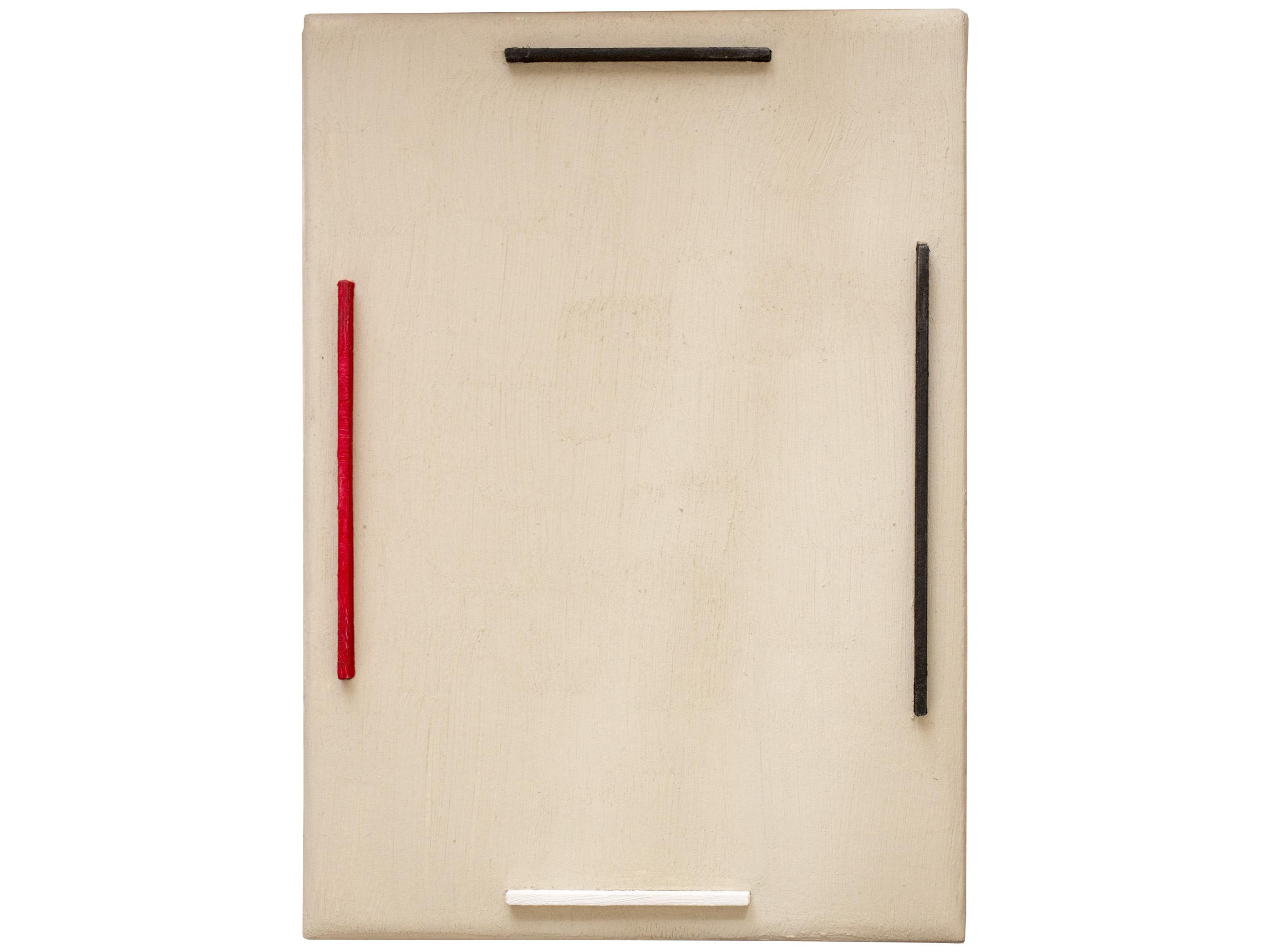 Gal. Karla Osorio. .art. Ricardo Homen. Sem título. Óleo sob. madeira e papel. 21x16x4cm. 2015-2017