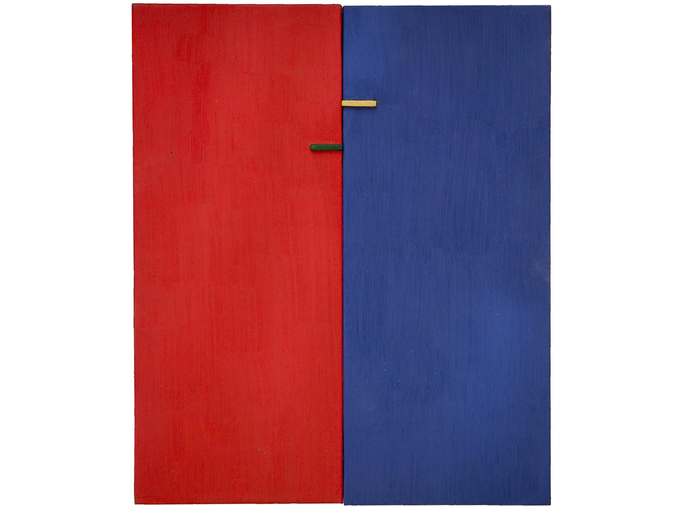 Gal. Karla Osorio. .art. Ricardo Homen. Sem título. Óleo sob. madeira e papel. 21x26x3. 2015-2017