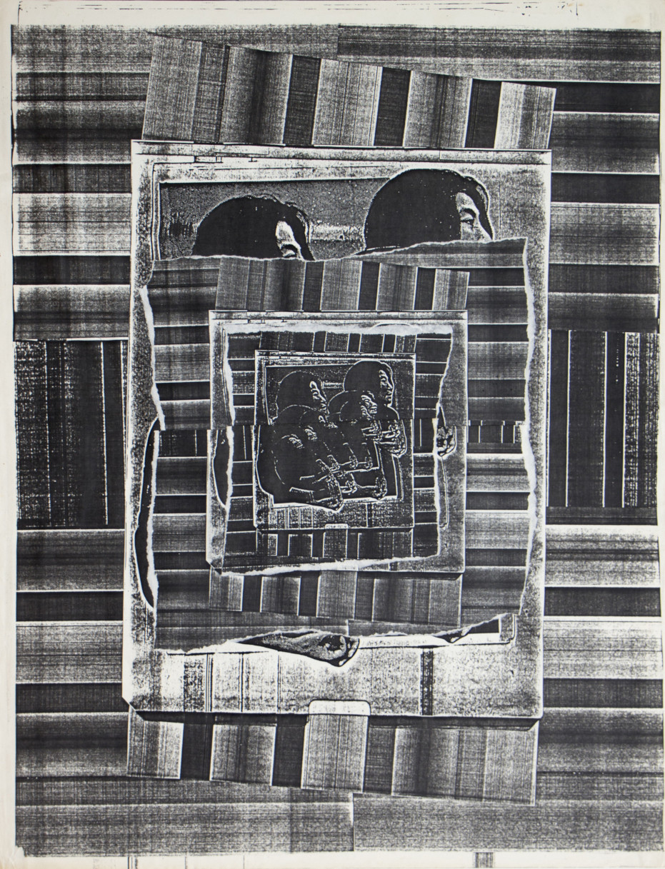 Bené Fonteles. Yokos-15. Colagem-Xerografia. 45x36cm. 1980