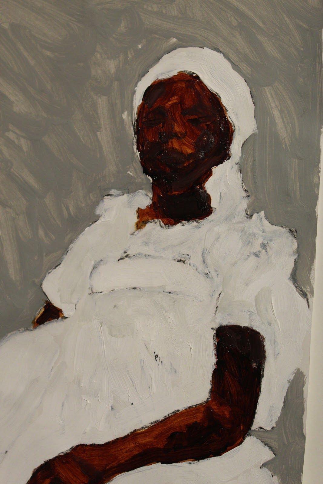 Moisés Patrício nascido - 1984, São Paulo - SP Brazil Mãe Valéria de Oxum 108 x 78 cm Acrílica sobre papel algodão Ano 2020 Valor da obra 3.500,00 (disponível)