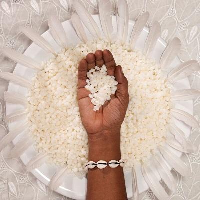Moises Patrício. série ACEITA 1 (arroz)150x150cm.Única.2019.