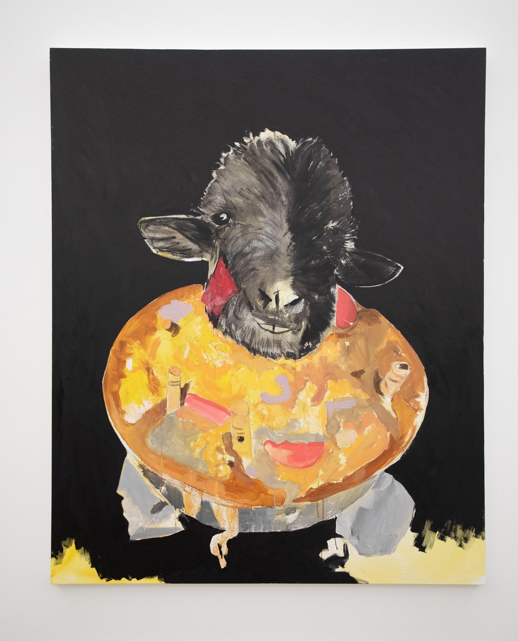 A Oferenda. Acrílica s tela. 185 x 150 cm. 2021