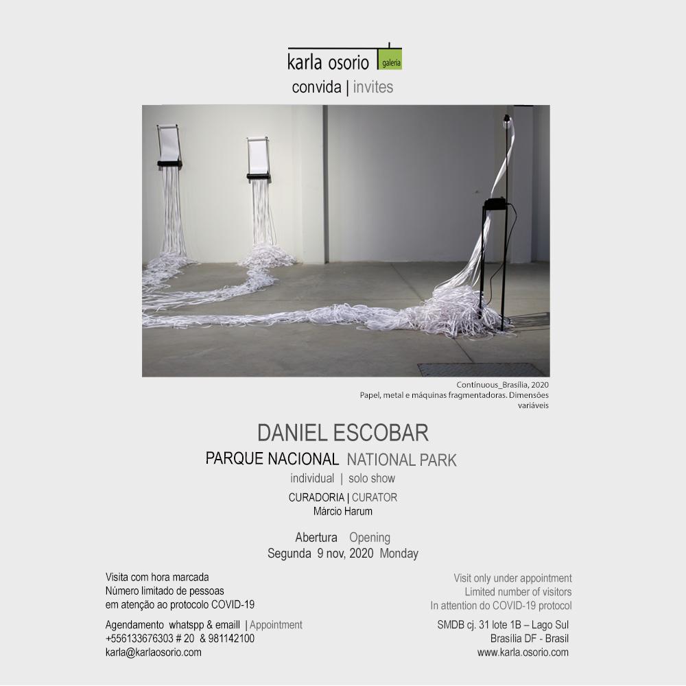 Convite expo 30 DANIEL ESCOBAR GaKO. 3v CONTINUOS abert. 9nov.