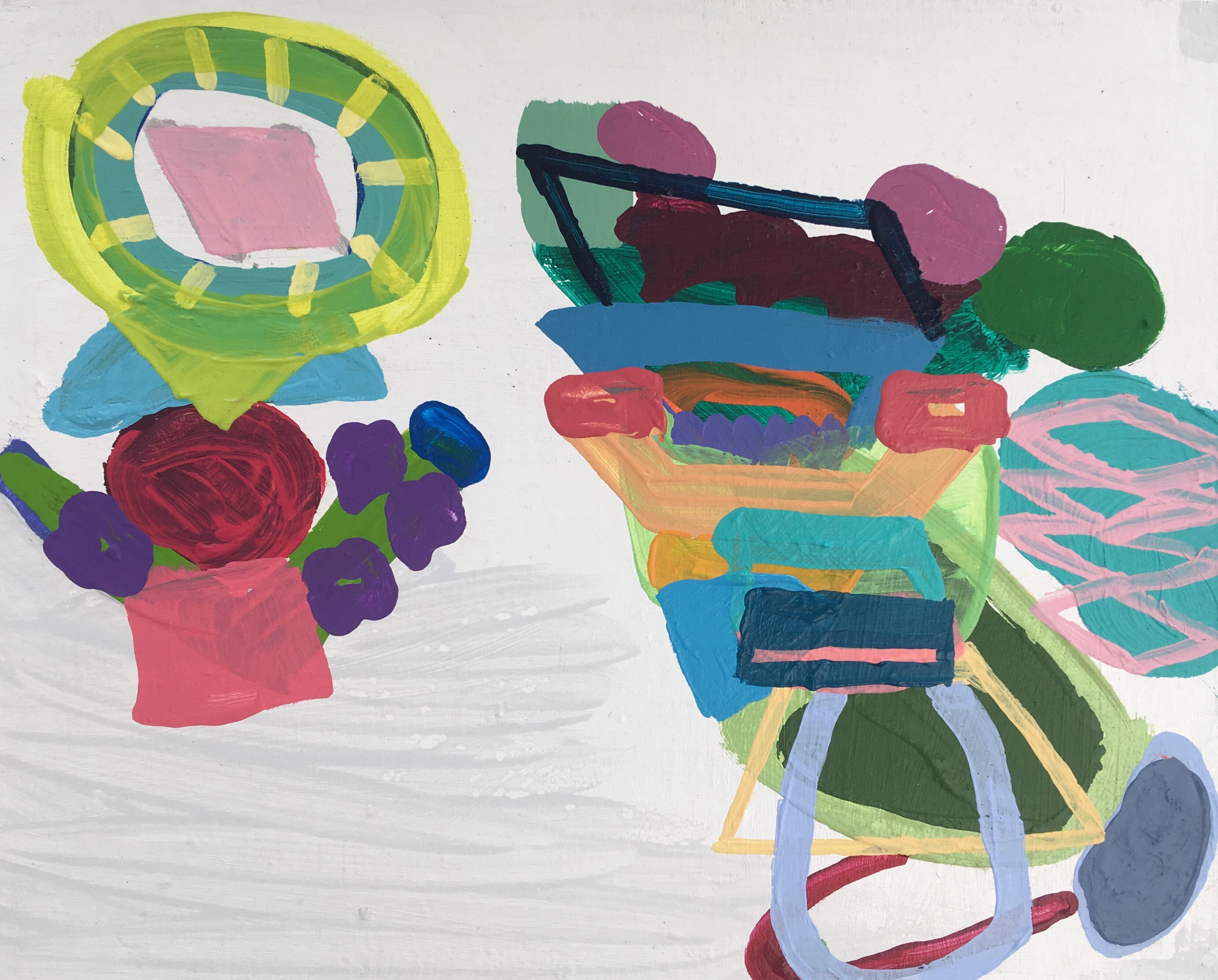 série branca pintura . Maria Lynch. 41 x 32 cm