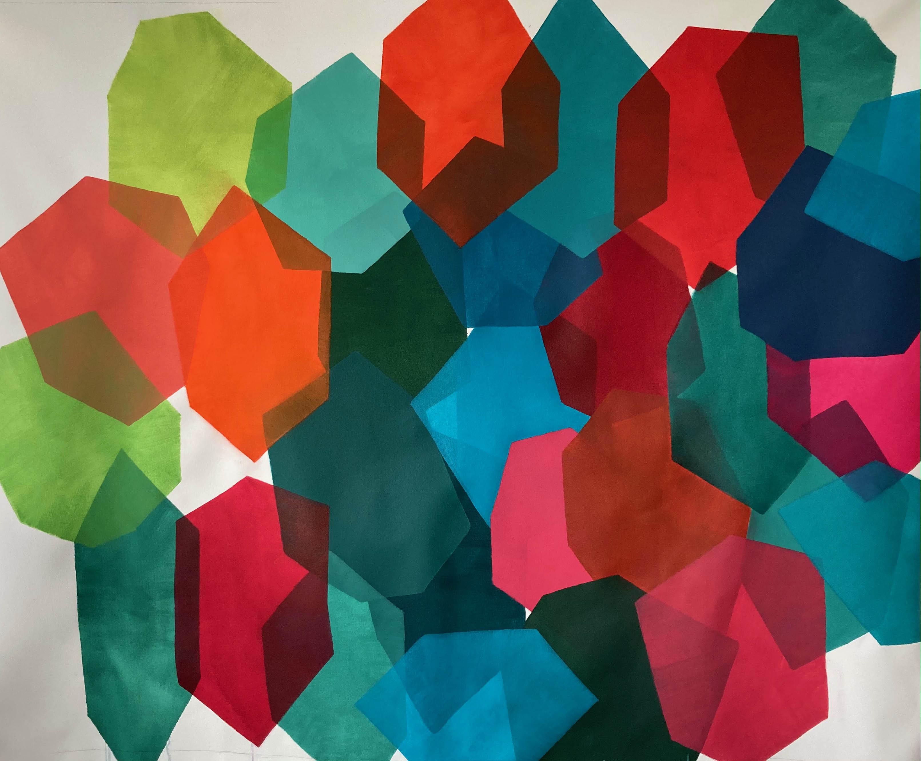 Vetores de Calor Heat Vectors 2021 Acrílica e aquarela sobre tela Acrylic and watercolor on canvas 148 x 180 cm 58,2 in x 70,8 in