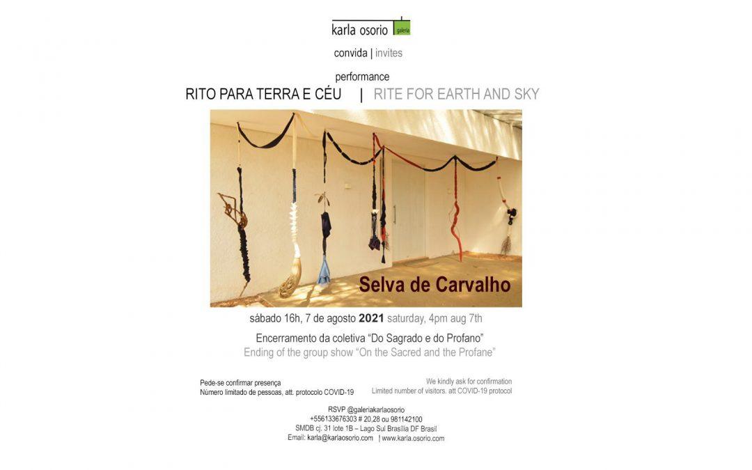 Evento encerramento da coletiva DO SAGRADO E DO PROFANO, Curadoria de Fernando Mota com performace inédita da artista Selva de Carvalho